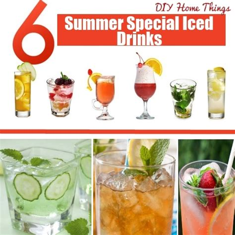 6 diy summer special iced drinks diy home things