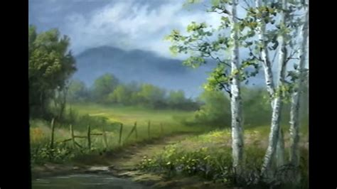 painting video  hour soft birch trees