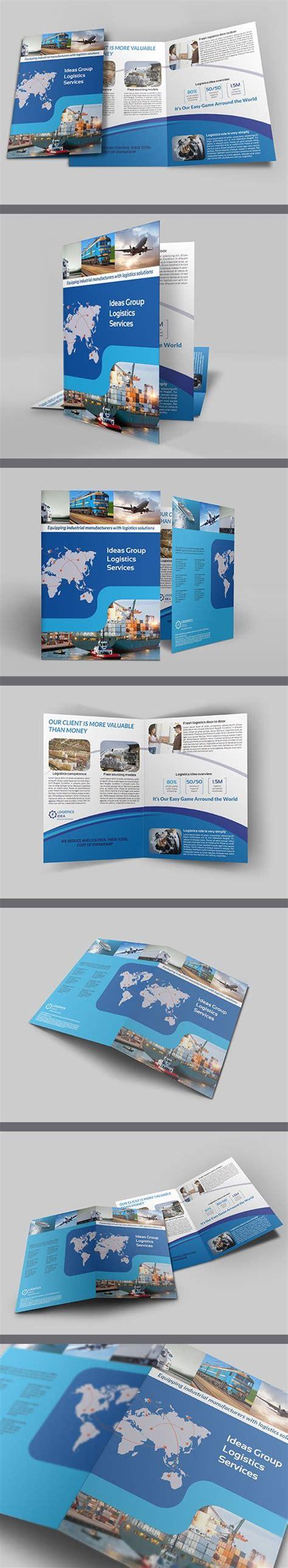 brochure template logistics logistics services bi fold brochure template