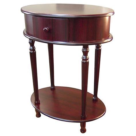 cherry side tables for living room polaris 174 28 quot cherry oval side table 163695 living room