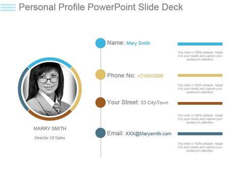powerpoint profile template personal profile powerpoint slide deck powerpoint slide