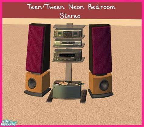 bedroom stereo sinful aussie s teen tween neon bedroom stereo
