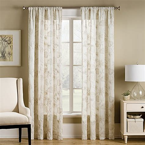 b smith curtains b smith pompeii window panel in natural bed bath beyond