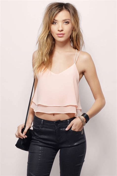 Abela Top 1 trendy blush crop top strappy top pink top 32 00