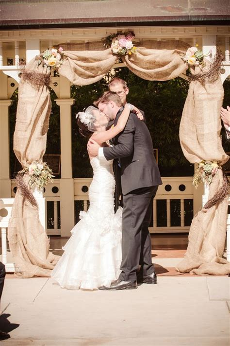 top  rustic burlap wedding arches backdrop ideas