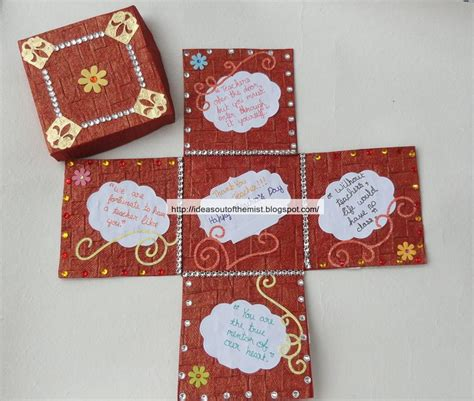 Handmade Cards On Teachers Day - handmade teachers day cards ideas