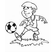 Soccer Young Boy Playing