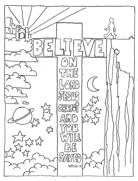 free coloring pages of bible verse