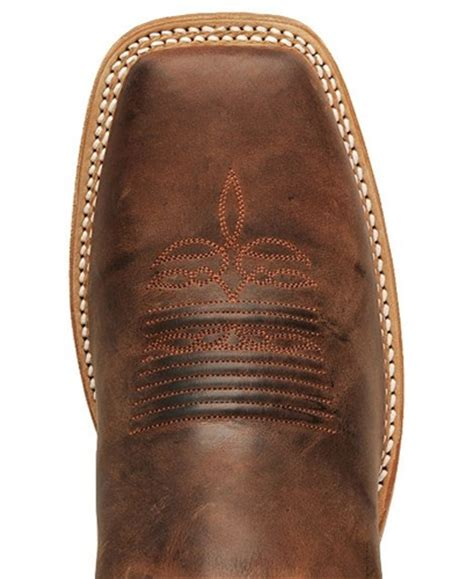 Justin Bent Rail COGNAC PONTEGGIO Cowboy Boots - Square To Justin Boots For Men