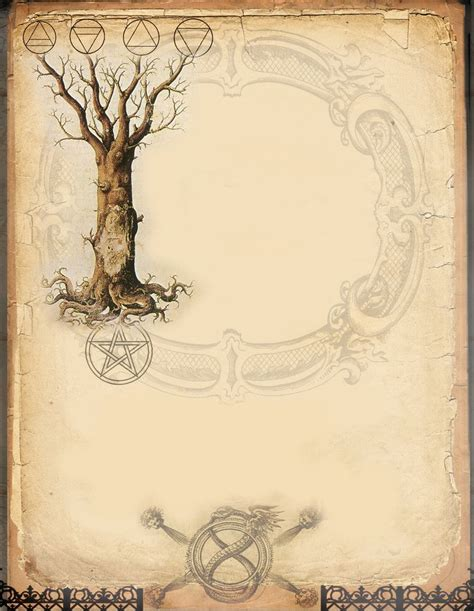 design journal blank printable page for your grimoire pagan crafts