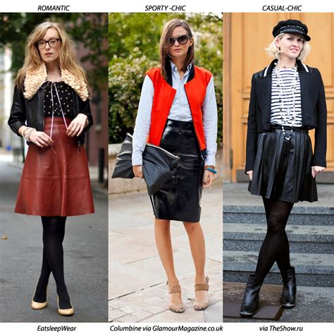 3 ways to wear a leather skirt blue is in fashion this year