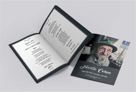 funeral order  service design templates print print