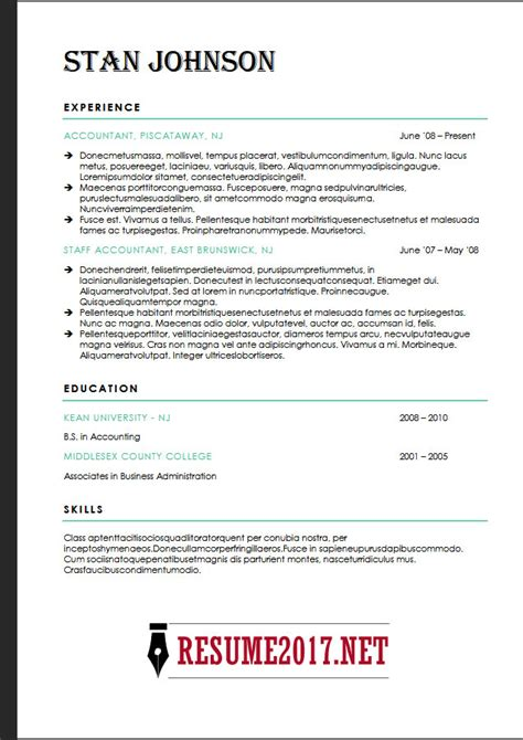 resume formats 2018 resume format 2018 16 templates in word