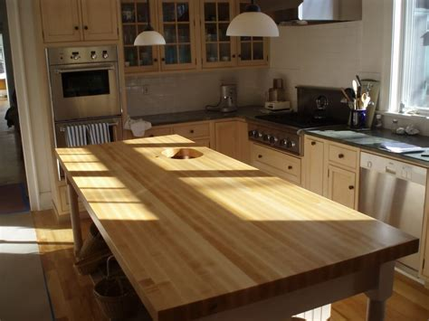 Wooden Kitchen Countertops Edge Grain Wood Countertops And Butcher Blocks Custom