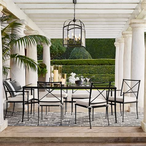 bridgehton outdoor dining table williams sonoma