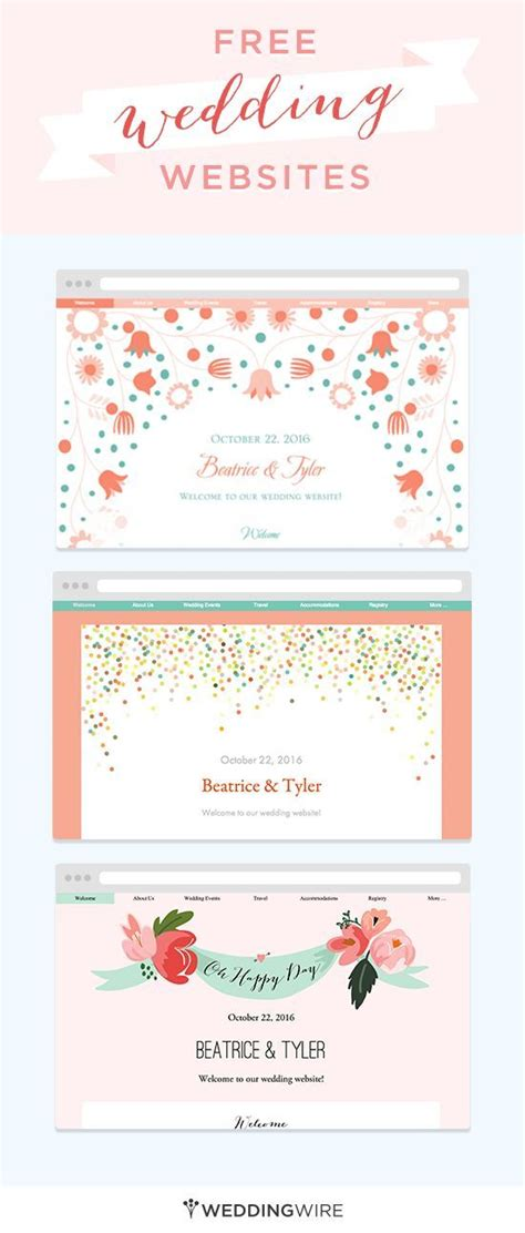 Create A Wedding Website To Share Big Day Details With Family Friends Sign Up For Access To A Free Diy Website Templates