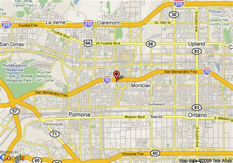 where is claremont california on map map of hotel claremont claremont