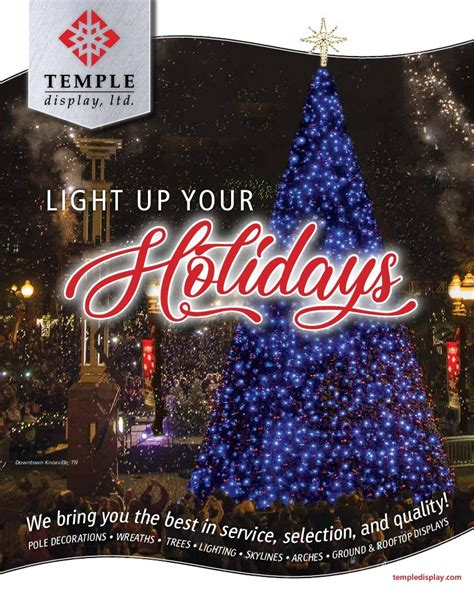 holiday decor online get your free commercial holiday decor catalog for cities