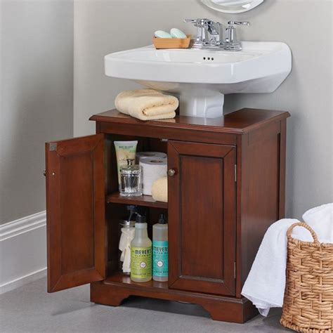 sink storage cabinet weatherby bathroom pedestal sink storage cabinet