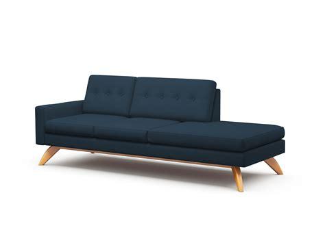single arm chaise lounge one arm sofa dane one arm sofa with chaise truemodern