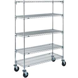 metro shelving units metro 5a366bc adjustable chrome 5 tier mobile