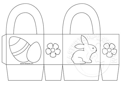 card easter basket template easter basket printable coloring page easter template