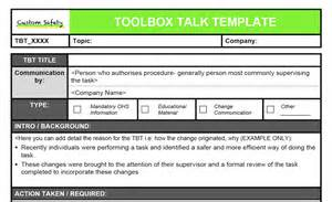 toolbox talk template