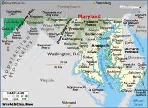 Maryland Map Usa by Map Of Maryland Large Color Map