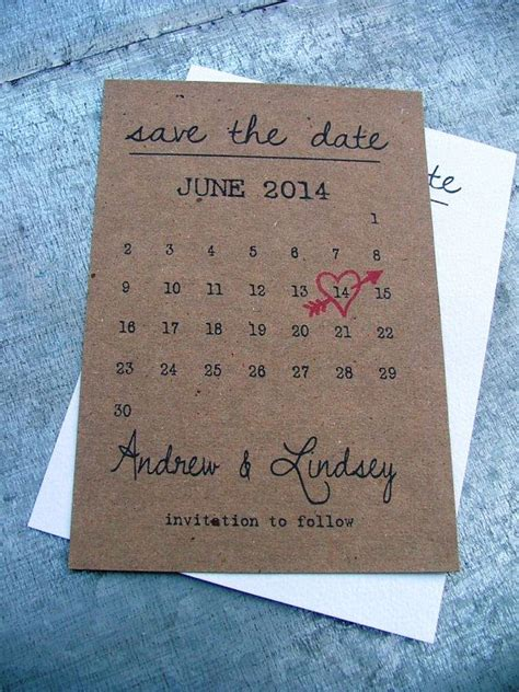 Cheap Calendar Save The Dates 1000 Ideas About Wedding Invitations On