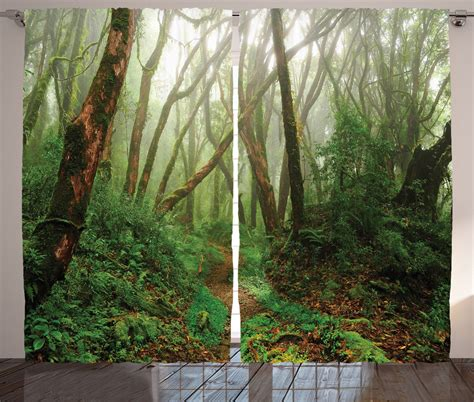 rainforest curtains tropical jungle rainforest in nepal asian nature theme art