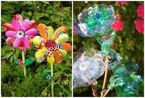 Deko Ideen Diy 3555 by Blumen Aus Plastikflaschen Als Gartendeko Im Beet Garten