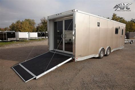 Custom Motorcycle Trailer with Living Quarters   MO Great