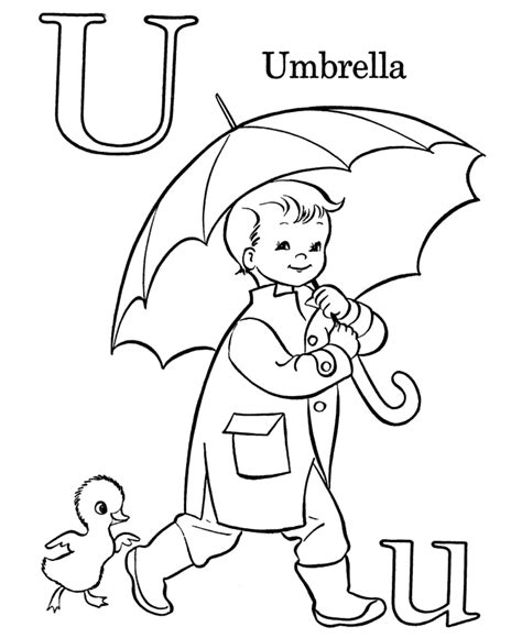 bluebonkers free printable alphabet coloring pages letter u