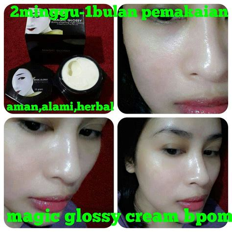 Magic Glossy Review jual magic glossy whitening bpom na18150100102