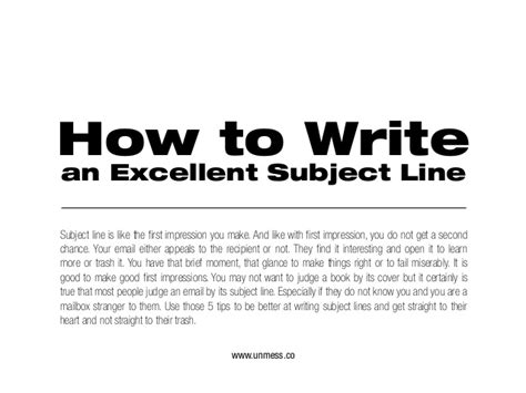 How To Write An Excellent Essay by 5 Essential Tips For Writing An Excellent Subject Line