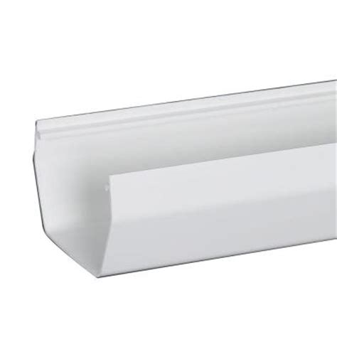Vinyl Gutters Home Depot by Amerimax Home Products 4 In White U Style Vinyl Gutter 10
