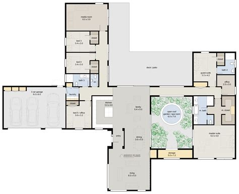 Zen Lifestyle 5, 5 Bedroom   HOUSE PLANS NEW ZEALAND LTD