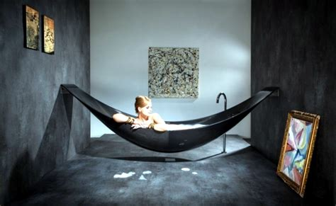 unusual bathroom furniture design  hanging bath
