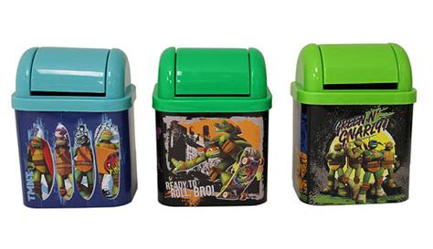 Mutant Turtles Desk by Mutant Turtles Flip Lid Desktop Tin Set