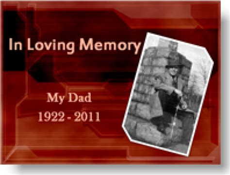 Memorial Powerpoint Presentation Template Bountr Info Funeral Slideshow Template