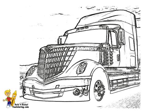 free coloring pages of kenworth semi trucks