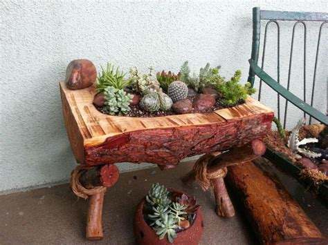 Log Planter Boxes by 29 Best Log Planters Images On