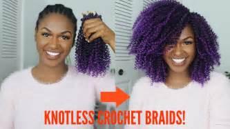 tutorial crochet braiding bh4u youtube how to natural purple knotless crochet braids tutorial