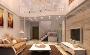 Beautiful interior design of duplex house