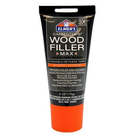 elmer s wood filler max stainable 6 oz e9016 the home depot
