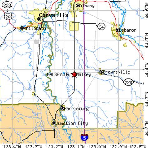 brownsville oregon map halsey oregon or population data races housing