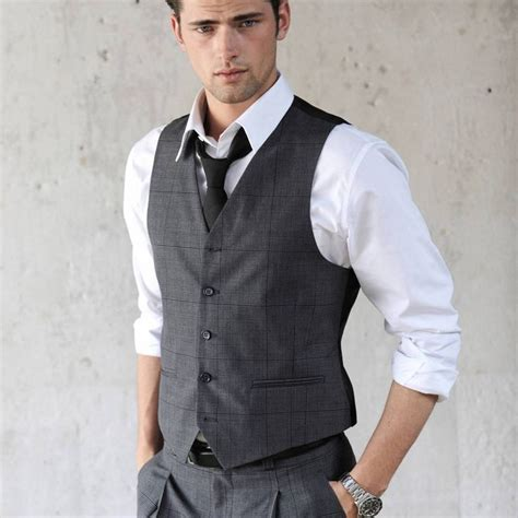 Tees With Vest s fashion charcoal waistcoat vest white shirt charcoal tie s fashion the