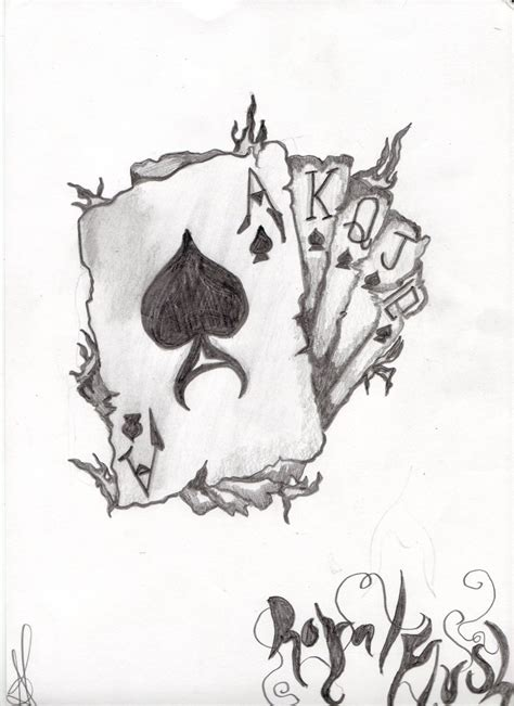 royal flush by tattoobiker666 on deviantart