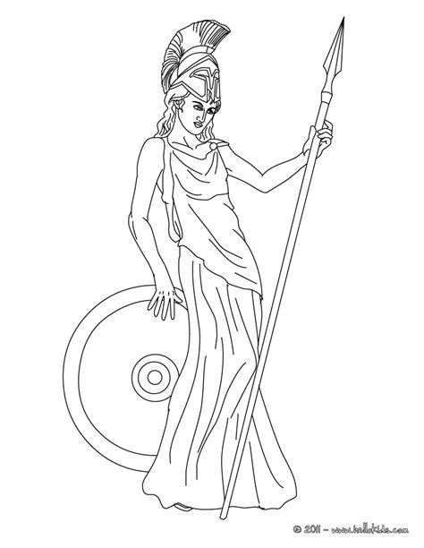 goddess of color athena the goddess of wisdom coloring pages