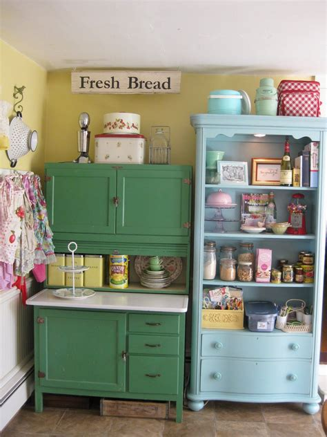 Vintage Kitchen Furniture by Colorful Vintage Kitchen Storage Ideas Pictures Photos